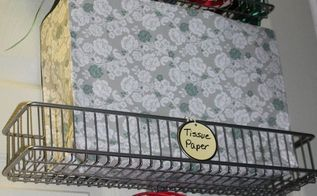 how to create a over the door wrapping paper station, doors, how to, organizing