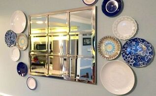 using plates as wall art, crafts, dining room ideas, how to, wall decor