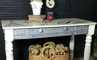 french postcard table desk, painted furniture, shabby chic