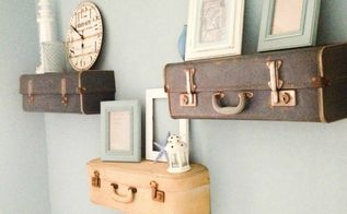 diy suitcase shelves, crafts, how to, repurposing upcycling, shelving ideas