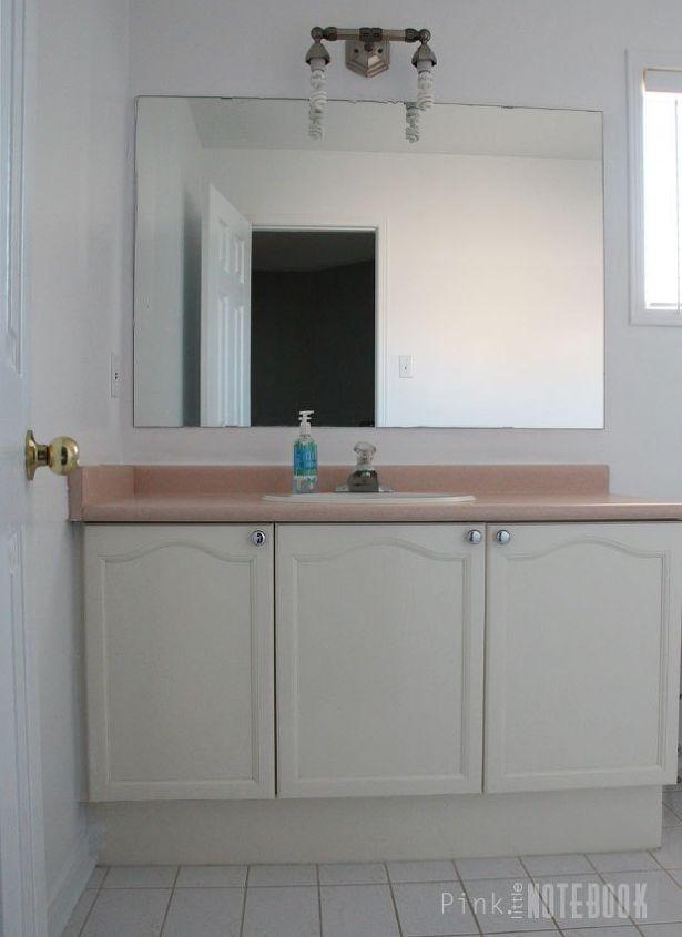 Updating an old bathroom vanity hometalk for Bathroom cabinets update ideas