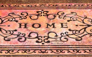 don t toss your worn out welcome mat, crafts, how to, outdoor living, painting