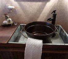 master bathroom transformed with reclaimed wood tile, bathroom ideas, home improvement