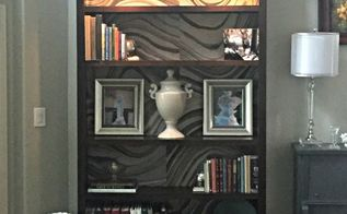 bookcase makeover part 2, how to, lighting