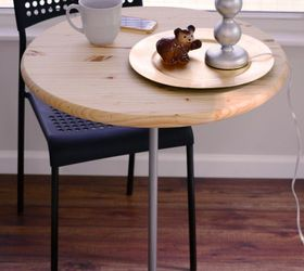 Nice Diy Bistro Table With Pedestal Base Made Of Wood Salad Bowl And Pipe ,  Crafts,