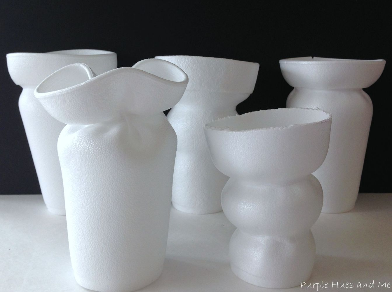 Turn Styrofoam Cups Into Funky Flower Vases