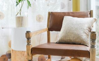 a vintage chair rescue with an unexpected twist , home decor, reupholster