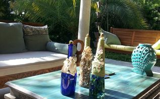 backyard coastal tiki torches, crafts, lighting, outdoor living, repurposing upcycling