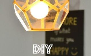 diy pendant lamp, crafts, how to, lighting