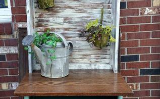 upcycled potting station art desk, crafts, gardening, painted furniture, repurposing upcycling