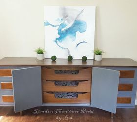 Amazing Mid Century Modern Redo , How To, Painted Furniture, Painting