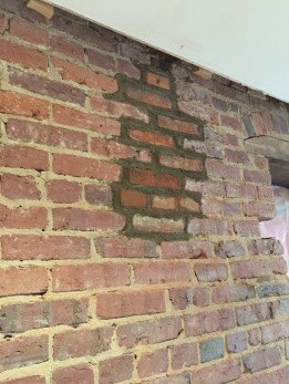 Exposing Cleaning A 100 Year Old Brick Wall Hometalk