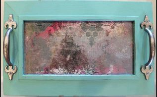 antique mirror effect on tray, crafts, how to, painting, repurposing upcycling, You can see my camera s reflection here