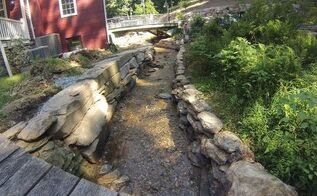 natural stream restoration progress , landscape, outdoor living, ponds water features