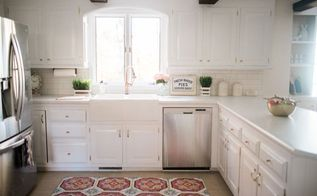 rustic farmhouse kitchen makeover, kitchen backsplash, kitchen cabinets, kitchen design, paint colors, painting cabinets