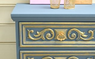 gold and grey nightstand, painted furniture