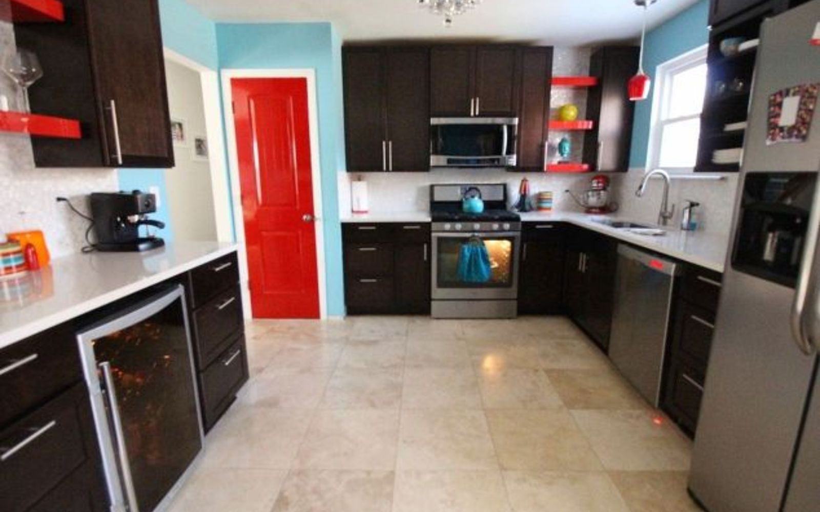 s 13 kitchen paint colors people are pinning like crazy, kitchen design, paint colors, Spice up your kitchen with red