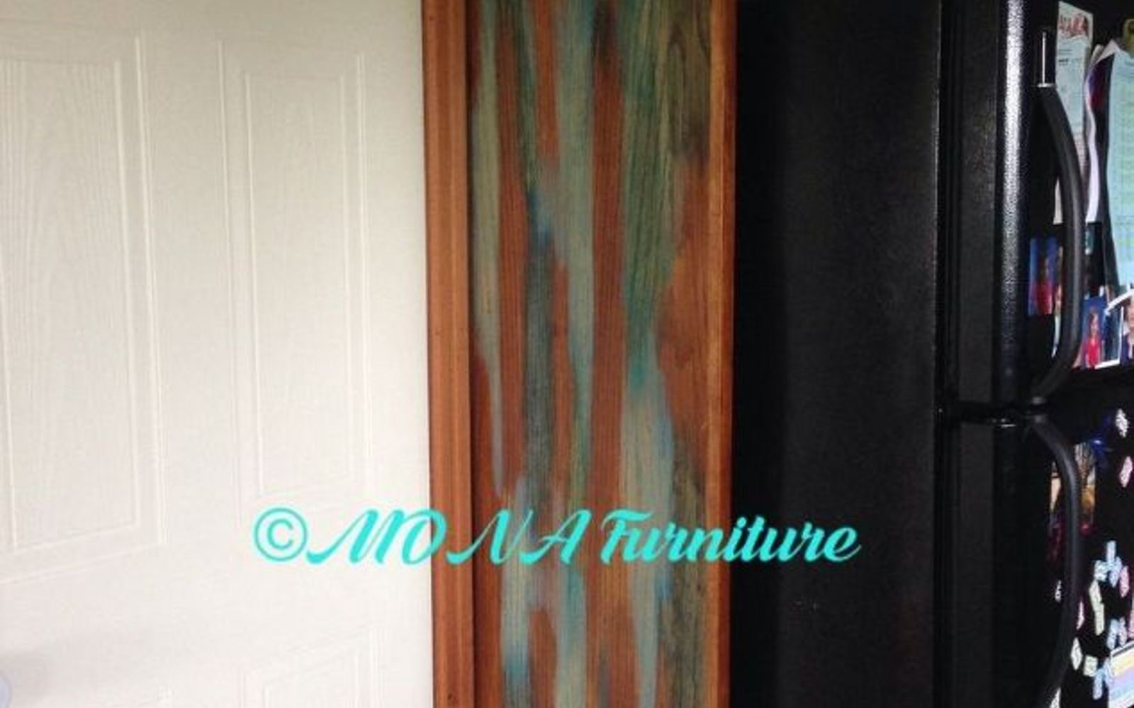 s 13 kitchen paint colors people are pinning like crazy, kitchen design, paint colors, Stain the wood with shades of blue