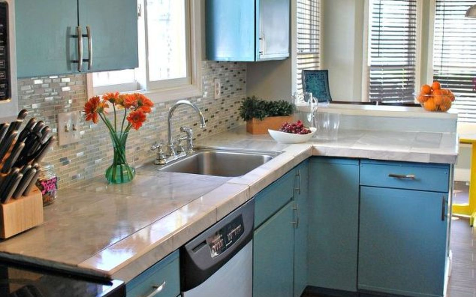 s 13 kitchen paint colors people are pinning like crazy, kitchen design, paint colors, Paint your cabinets cloud blue