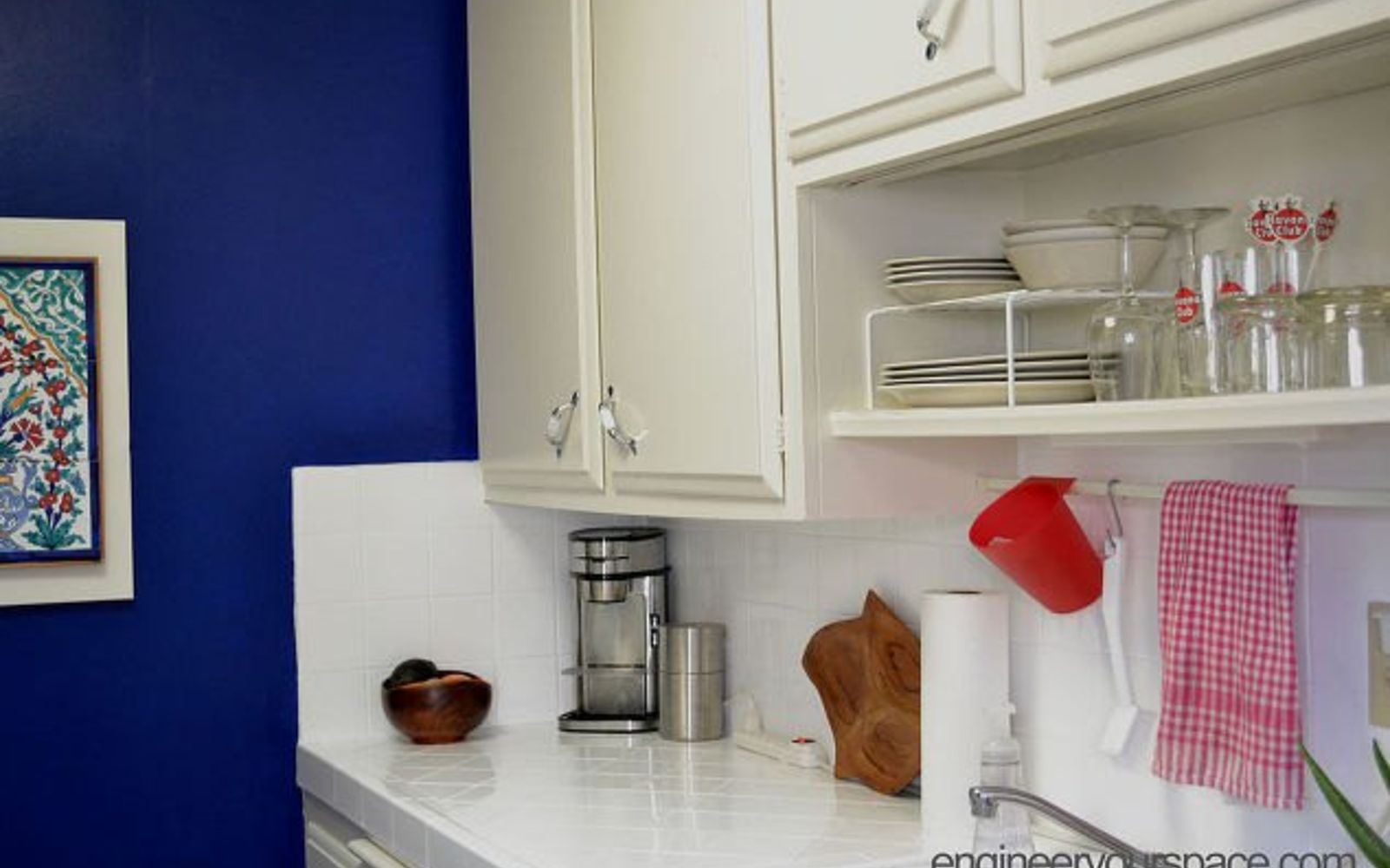 s 13 kitchen paint colors people are pinning like crazy, kitchen design, paint colors, Or paint an entire wall cobalt blue
