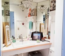 stenciled bathroom ceiling and mini makeover, bathroom ideas, painting