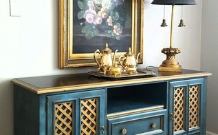 how to make an old dresser into media cabinet or buffet, how to, painted furniture, repurposing upcycling
