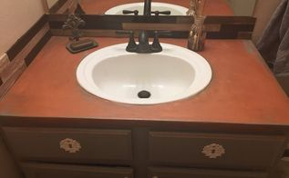 copper countertops under 20 what , bathroom ideas, concrete countertops, countertops, how to, painting