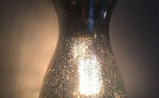 mercury glass lamp pendant, crafts, how to, lighting, painting, repurposing upcycling
