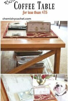 how to build your own rustic coffee table for less than 75, rustic furniture, woodworking projects
