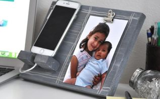 diy phone charger and photo display, crafts, woodworking projects