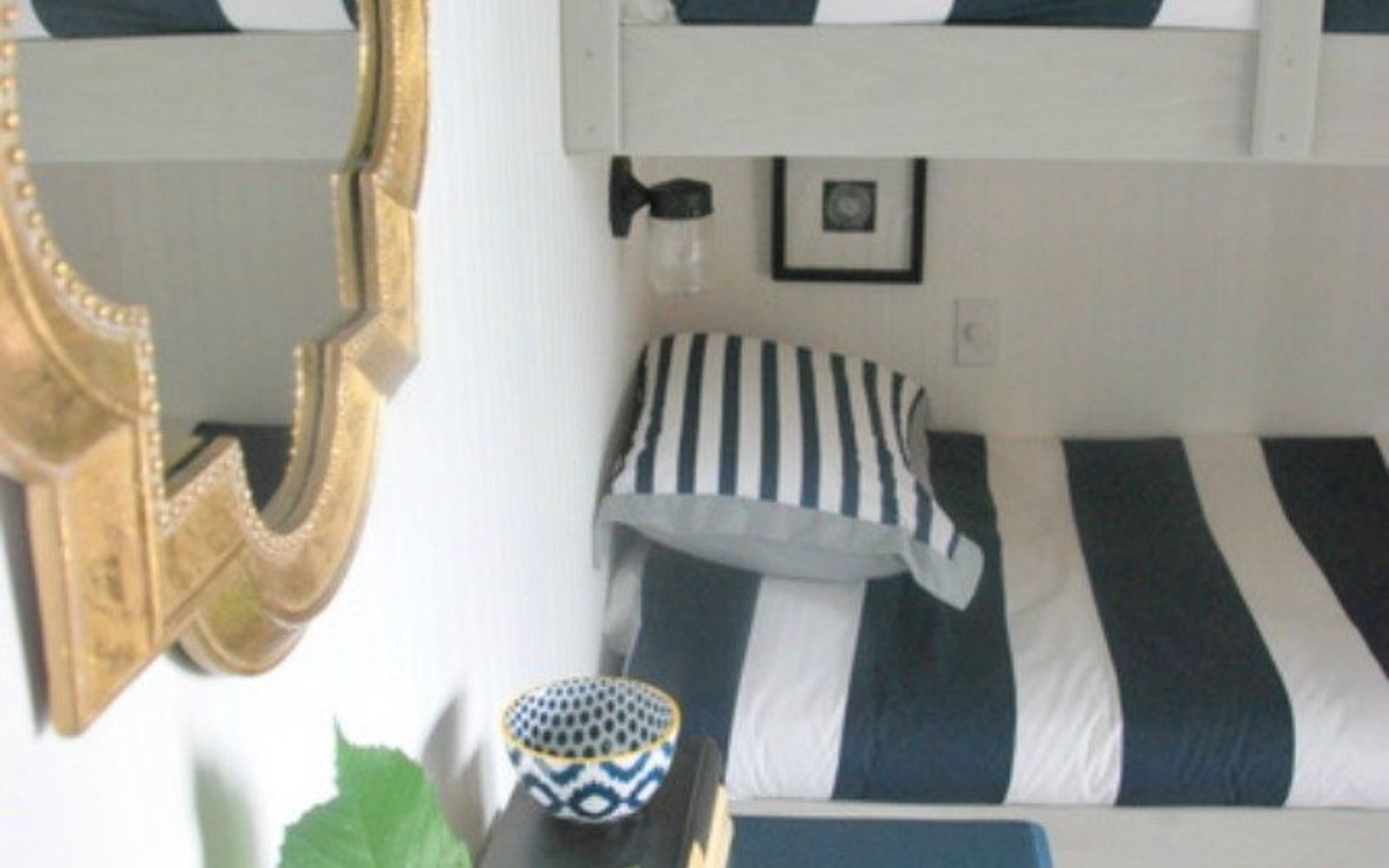 s why everyone is freaking out over these country cottage rooms, bedroom ideas, entertainment rec rooms, home decor, These nautical themed bunk beds are so cute