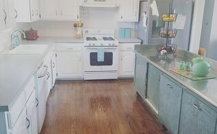 total kitchen transformation with a bit of retro history , home improvement, kitchen cabinets, kitchen design, kitchen island