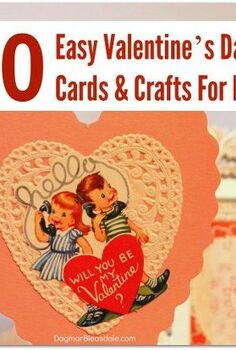 10 easy valentine s day cards and crafts for kids, crafts, seasonal holiday decor, valentines day ideas