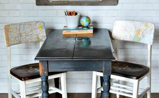 travel inspired kid s craft table, crafts, painted furniture