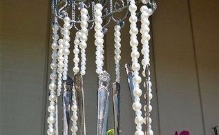 my first of many wind chime, crafts, gardening, repurposing upcycling