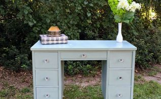 mid century modern chalk paint desk makeover, chalk paint, painted furniture