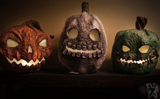 how to make paper clay jack o lanterns for halloween, crafts, halloween decorations, how to, seasonal holiday decor
