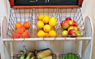 blanket rack to farmhouse vegetable stand, kitchen cabinets, kitchen design, organizing
