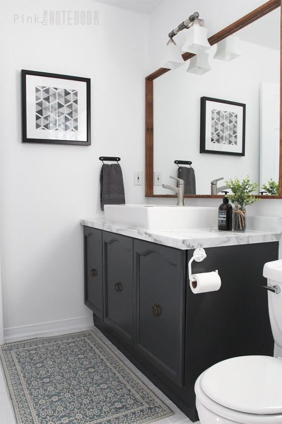 Diy Bathroom Makeover On A Budget Hometalk