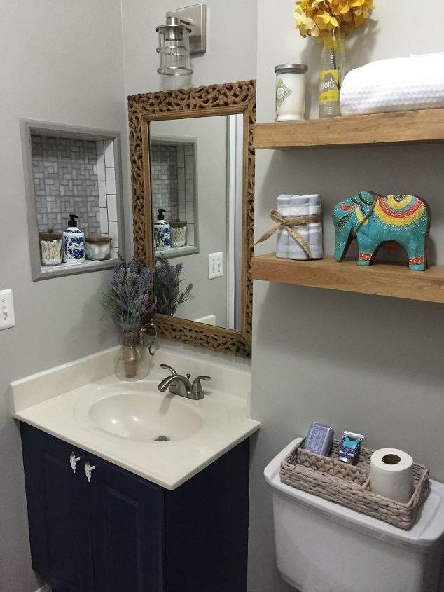 builders grade bathroom update, bathroom ideas, home improvement, paint colors, tiling