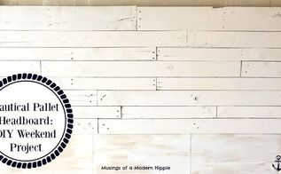 nautical pallet headboard diy weekend project, pallet, woodworking projects
