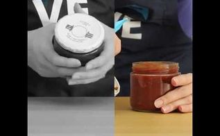 the easiest way to open a jar lid, crafts