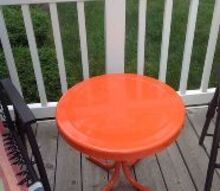q painting a metal table what kind of paint should i use , painted furniture, painting over finishes