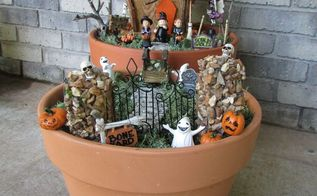 halloween fairy house made from a bird house , crafts, halloween decorations, seasonal holiday decor