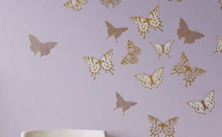 soar into style how to stencil butterfly wall art, bedroom ideas, how to, painting, wall decor