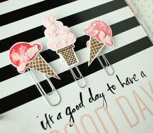 diy ice cream cone paperclips, crafts, how to, organizing