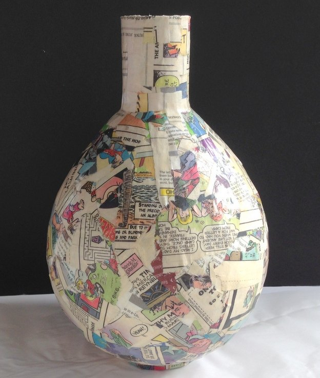 decoupage napkins on paper mache vases hometalk. Black Bedroom Furniture Sets. Home Design Ideas