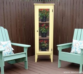 Diy Patio Garden Cabinet To Display And Protect Plants, Container .