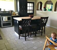 the kitchen is done , home improvement, kitchen cabinets, kitchen design, painting cabinets, tile flooring