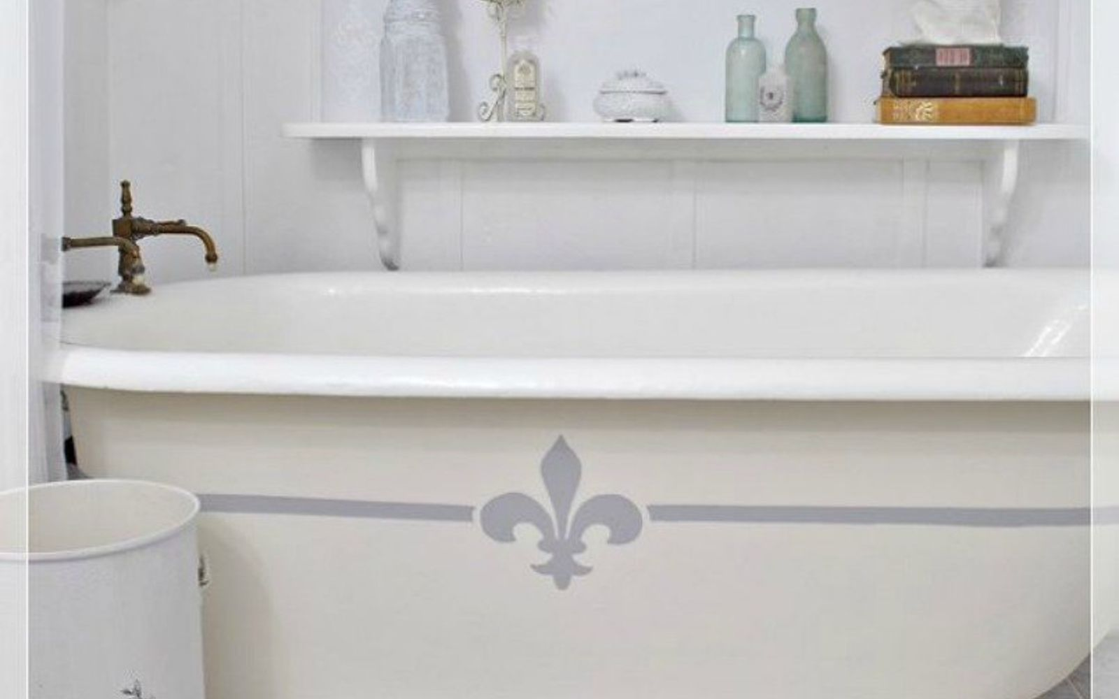 s 11 easy ways to refresh your old bathtub, bathroom ideas, Or paint the side of your tub with a design